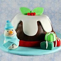 Mini Xmas Choc Pud Cake