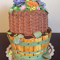 Flower basket/flower pot cake