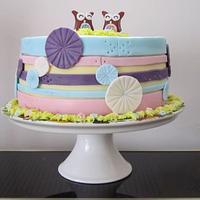 Twin Owl Cake