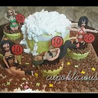 A 40 th birthday cake