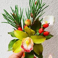 My sugar flowers from the master class of Neli Josefsen