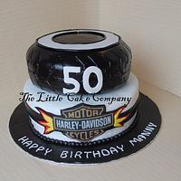 50th Harley Davidson Cake