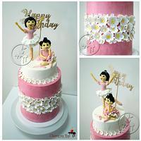 A beautiful Ballerina cake