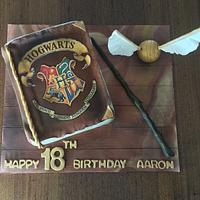 Hogwarts Spell Book Cake