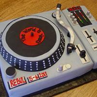 Disc Jocky Cake