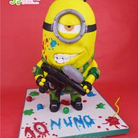 Paintball Minion cake