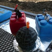 My son's Lego Star Wars Cake by Ashley