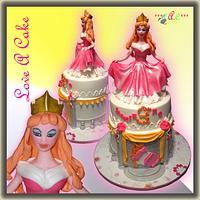 Princess Aurora (Sleeping Beauty)-themed Birthday Cake by genzLoveACake