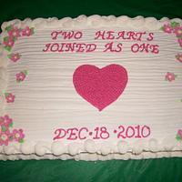 Wedding Fruit Cake Sheet  by caymancake