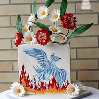 Reborn From The Ashes - World Cancer Day Sugarflowers and Cakes in Bloom Collaboration