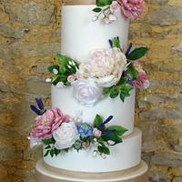 Rustic Wedding Cake by The Rosehip Bakery