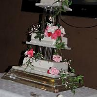 My First Wedding Cake. My second cake I've done