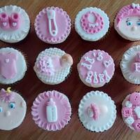 Baby shower cupcakes x