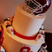 Oklahoma Sooner's Football Groom's Cake