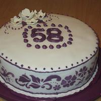 58th Birthday cake