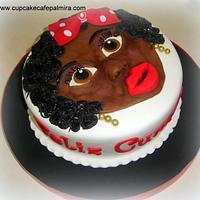 Woman Black cake