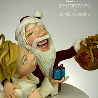 """Santa Claus with """"Christkind"""""""