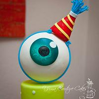 Monsters Inc style cake