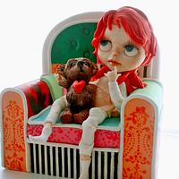 Blythe and teddy bear