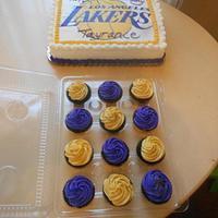 Lakers Fan Cake by Michelle Allen
