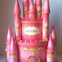 Pink Castle cake