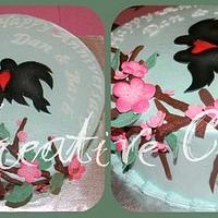 Cherry Blossom Love Birds