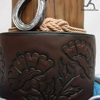 Horse Inspired Cake...with tooled leather effect by Ciccio