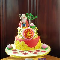 The God of Longevity Cake