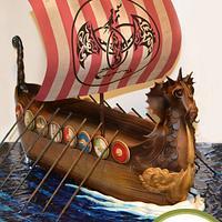 A Viking Longship Cake!