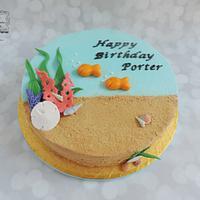Goldfish Birthday Cake