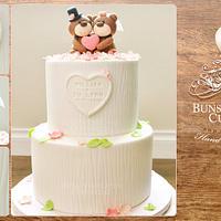 Beary Merry Wedding Cake