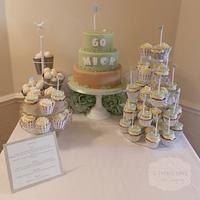 Golf dessert table