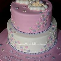 Sleeping angels baptism cake