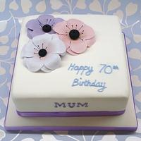 Anemone cake by That Cake Lady