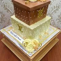 LV sharp edge whipped cream Gift cake