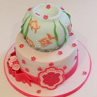 Fish themed Christening Cake