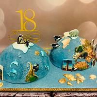 Hemisphere cake
