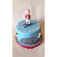 Star Wars/football themed birthday cake!