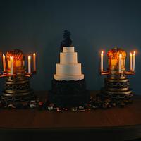Byzantine Bas Relief Wedding Cake