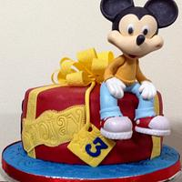 3rd Birthday Mickey Mouse Cake