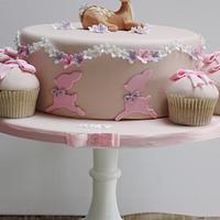 Bambi Christening Cake