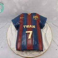 3d FC Barcelona cake