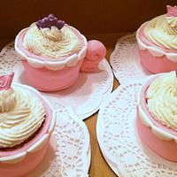 Tea Party Princess Cupcakes by Cathy