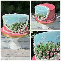 Rose Bush Cake