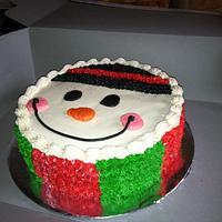 Snowman Cake by Bridget
