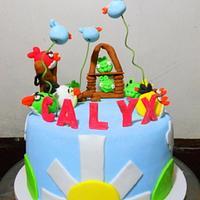 Calyx's Angry Birds Cake