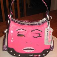 Betsey Johnson Purse - Hand Painted!! All Completely Edible!!!