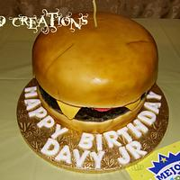 Cheese Burger Cake by wildcreationspr