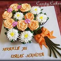 Cream Cupcake Bouquet
