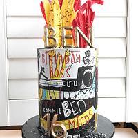 16th Birthday Doodle Cake